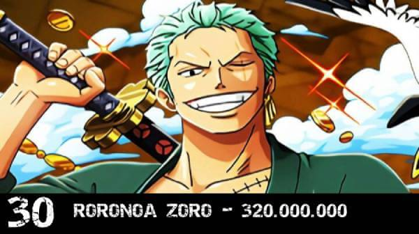 Recompensa One Piece Zoro